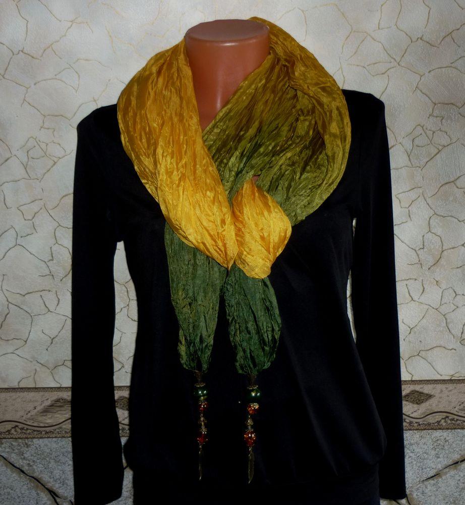 палантин, шарф шёлковый