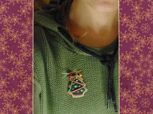 «Елки-Пряники»: новогодняя брошка своими руками. Мастер-класс для начинающих. Ярмарка Мастеров - ручная работа, handmade.