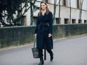 Длинное модное  женское пальто 2017-2018. Ярмарка Мастеров - ручная работа, handmade.