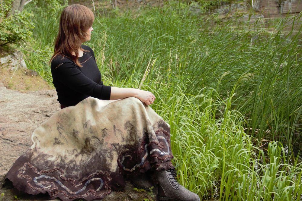 оригинальная юбка, юбка бохо