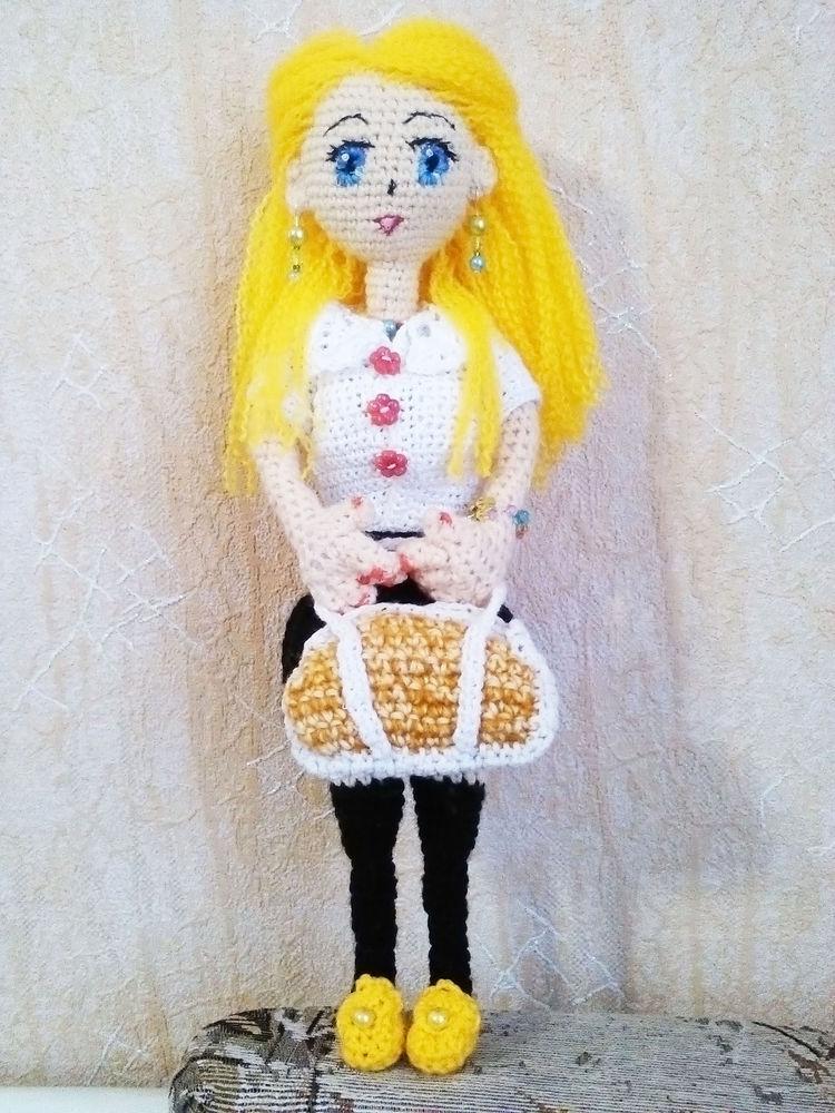 кукла, кукла в подарок, кукла вязаная