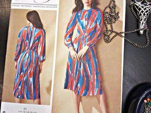 Как шить по выкройкам Vogue: трикотажное платье. Ярмарка Мастеров - ручная работа, handmade.
