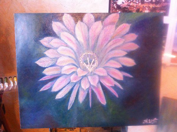 Пишем Цветок Кактуса. | Ярмарка Мастеров - ручная работа, handmade