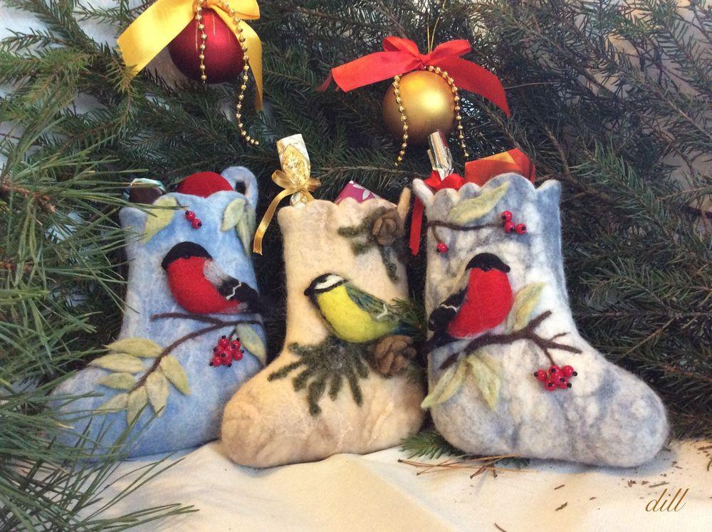 новый год 2019, конкурс, новогодний подарок, рождество, рождественский декор, подарок на рождество, снегири, синицы, новогодний сапожок, dill