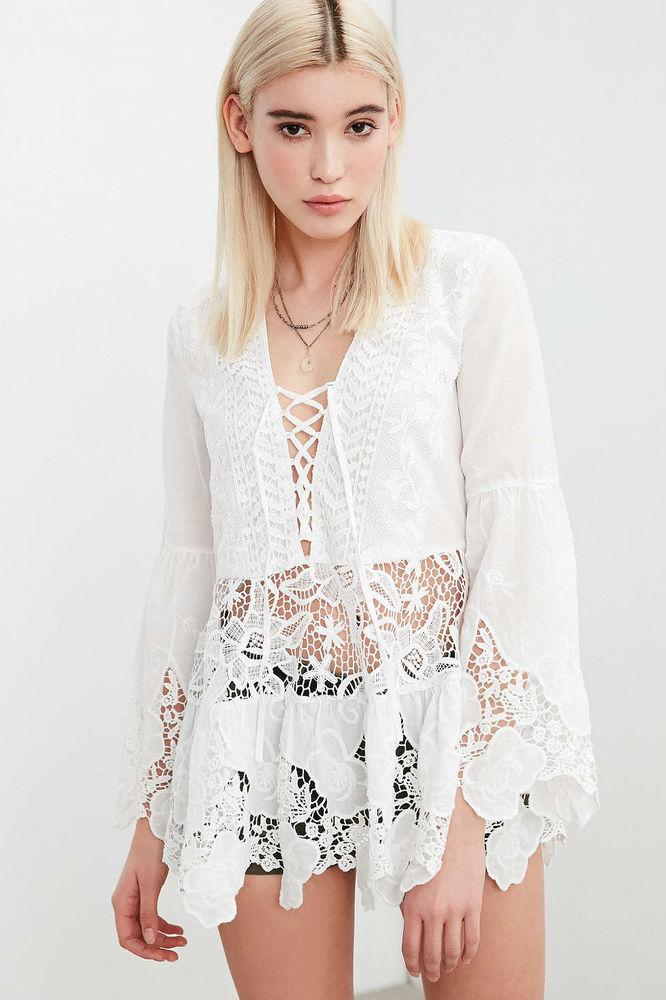 Белое бохо, или Шикарная одежда для королевы летнего пляжа, фото № 73