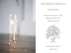 Тонкие высокие свечи ручной работы из натурального пчелиного воска теперь можно купить в Москве | Ярмарка Мастеров - ручная работа, handmade