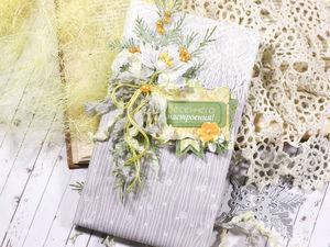 Мастер-класс: как сделать нежную открытку с использованием ткани. Ярмарка Мастеров - ручная работа, handmade.