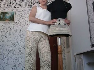 Летние брюки из наборного кружева. Ярмарка Мастеров - ручная работа, handmade.