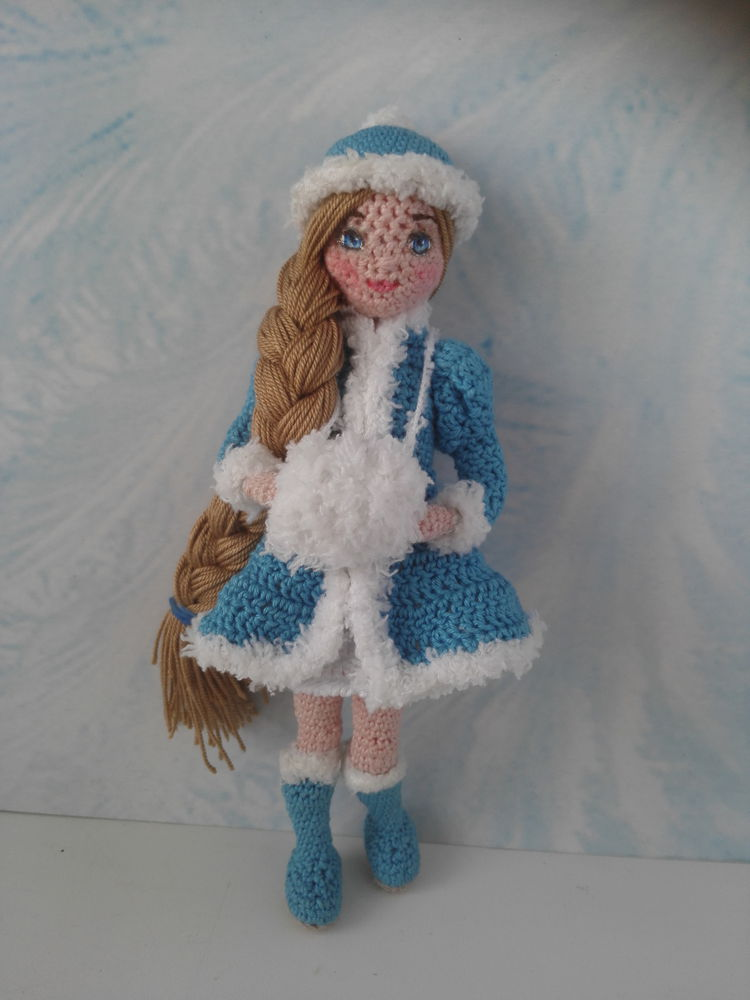 вязаная кукла, новый год, кукла крючком, амигуруми