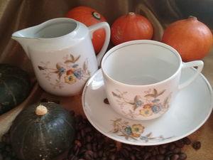 Набор- Молочник- сливочник. Чайная пара. Старые Вербилки. Ярмарка Мастеров - ручная работа, handmade.