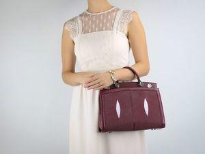 Женская сумка из натуральной кожи морского ската (видеообзор). Ярмарка Мастеров - ручная работа, handmade.