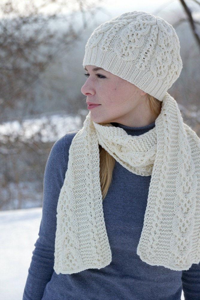 акция, вязаный комплект, вязаный шарф