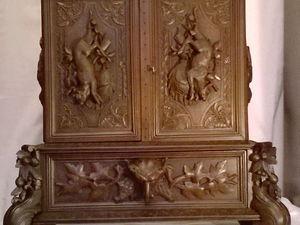 Реставрируем резной охотничий шкафчик. Ярмарка Мастеров - ручная работа, handmade.