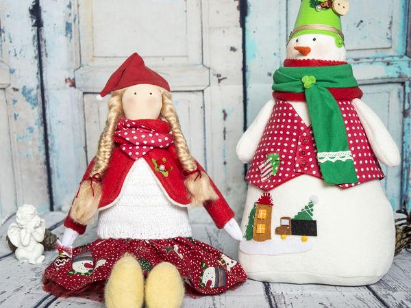 Дополнительные фотографии новогодних куколок. | Ярмарка Мастеров - ручная работа, handmade