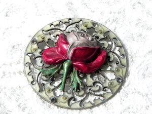 Видео. Брошь Роза, Catherine Popesco, Франция. Ярмарка Мастеров - ручная работа, handmade.