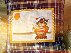 Шьем декоративную наволочку с вышивкой для детской подушки. Ярмарка Мастеров - ручная работа, handmade.