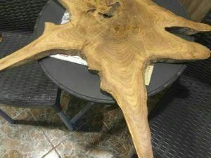 Журнальный стол из поперечного спила корня дуба слэб. Ярмарка Мастеров - ручная работа, handmade.