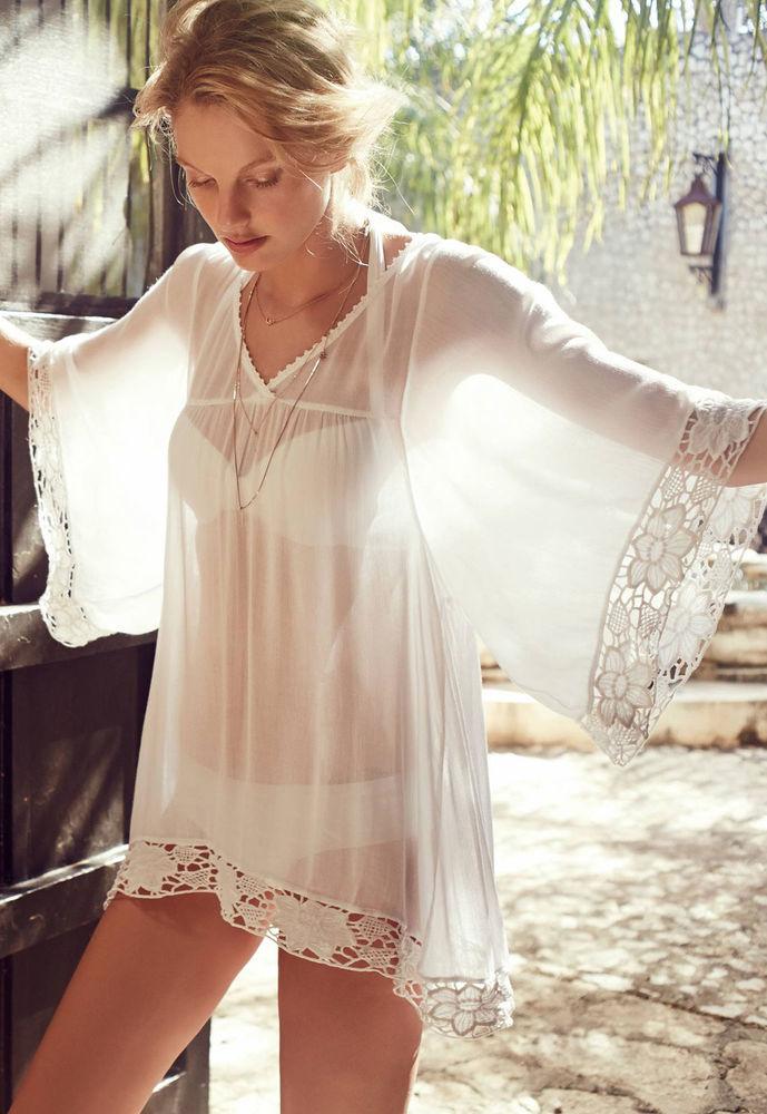 Белое бохо, или Шикарная одежда для королевы летнего пляжа, фото № 45