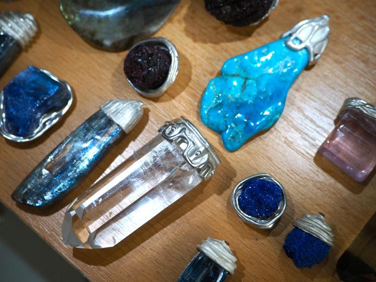 натуральные камни, серьги ручной работы