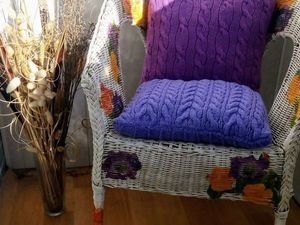 The Second Life of an Old Wicker Chair. Livemaster - handmade