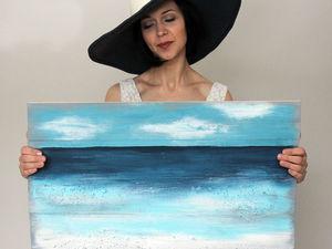 Видео мастер-класс: «Как я море рисовала». Ярмарка Мастеров - ручная работа, handmade.