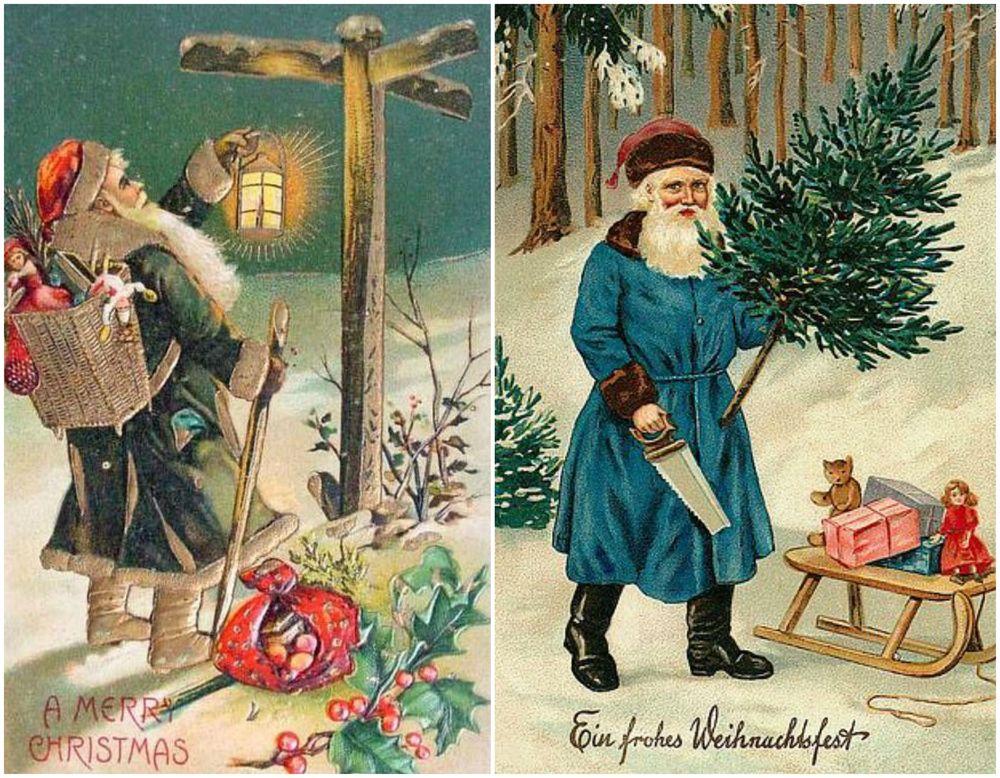 Новогодние открытки из прошлого века, августа вдв