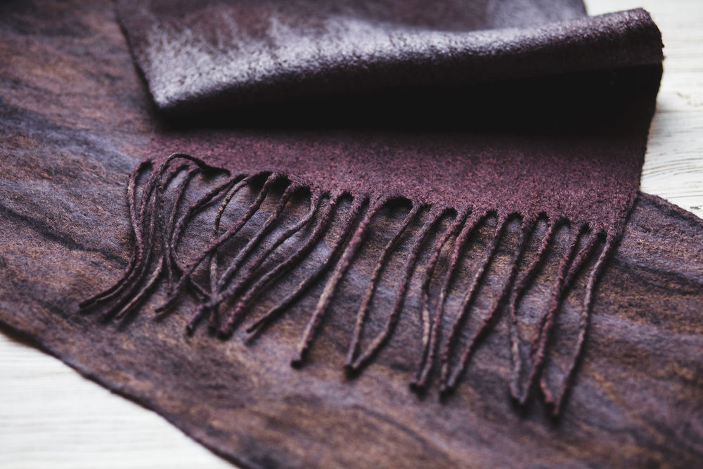 мк по валянию, войлоковаляние, мужские шарфы, мастер-класс валяние