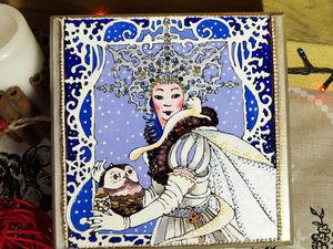 Роспись подарочной шкатулки «Сердце Снежной Королевы». Ярмарка Мастеров - ручная работа, handmade.