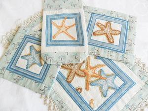 Морские звезды для кухни в голубом. Акция на новые работы. Ярмарка Мастеров - ручная работа, handmade.