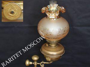 РАРИТЕТИЩЕ Лампа керосиновая бронза латунь 20 | Ярмарка Мастеров - ручная работа, handmade
