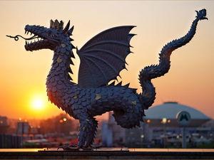 Дракон жив: образ крылатого змея в наших домах и на улицах городов. Ярмарка Мастеров - ручная работа, handmade.