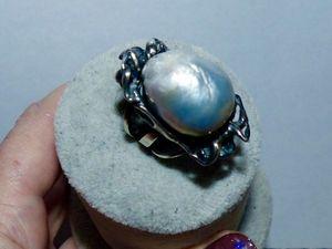 Новое кольцо ОРГИЯ серебро 925,барочный жемчуг. Ярмарка Мастеров - ручная работа, handmade.