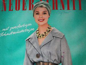 Neuer Schnitt — старый немецкий журнал мод 1/1961. Ярмарка Мастеров - ручная работа, handmade.