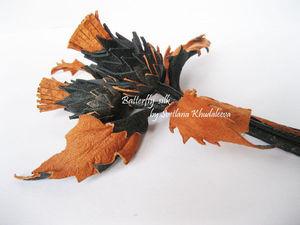 Делам брошь «Чертополох» из кожи. Часть 1. Ярмарка Мастеров - ручная работа, handmade.
