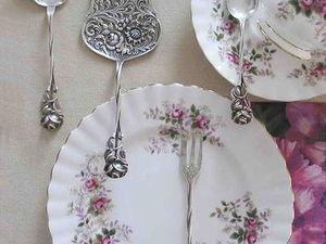 О Хильдесхаймской розе.Столовые приборы с розой.. Ярмарка Мастеров - ручная работа, handmade.