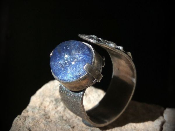 Фото одного кольца с дюмортьеритом | Ярмарка Мастеров - ручная работа, handmade