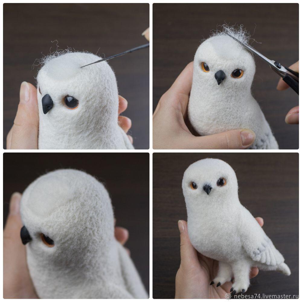 """Fieltrar un juguete de árbol de Navidad """"White Polar Owl"""", foto # 16"""