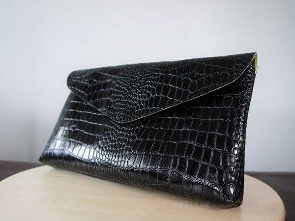 dde40f86d02e Шьем клатч из натуральной кожи   Ярмарка Мастеров - ручная работа, handmade
