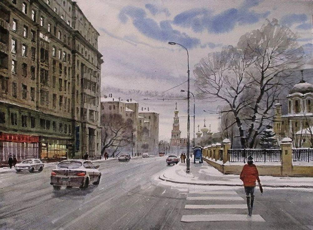 Акварельные пейзажи художника Ильи Горгоца, фото № 4