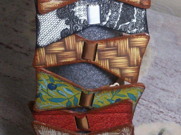 МК по созданию галстука бабочки в технике декупаж | Ярмарка Мастеров - ручная работа, handmade