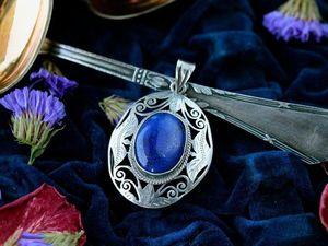 Небесно-синий лазурит и все его оттенки. Ярмарка Мастеров - ручная работа, handmade.