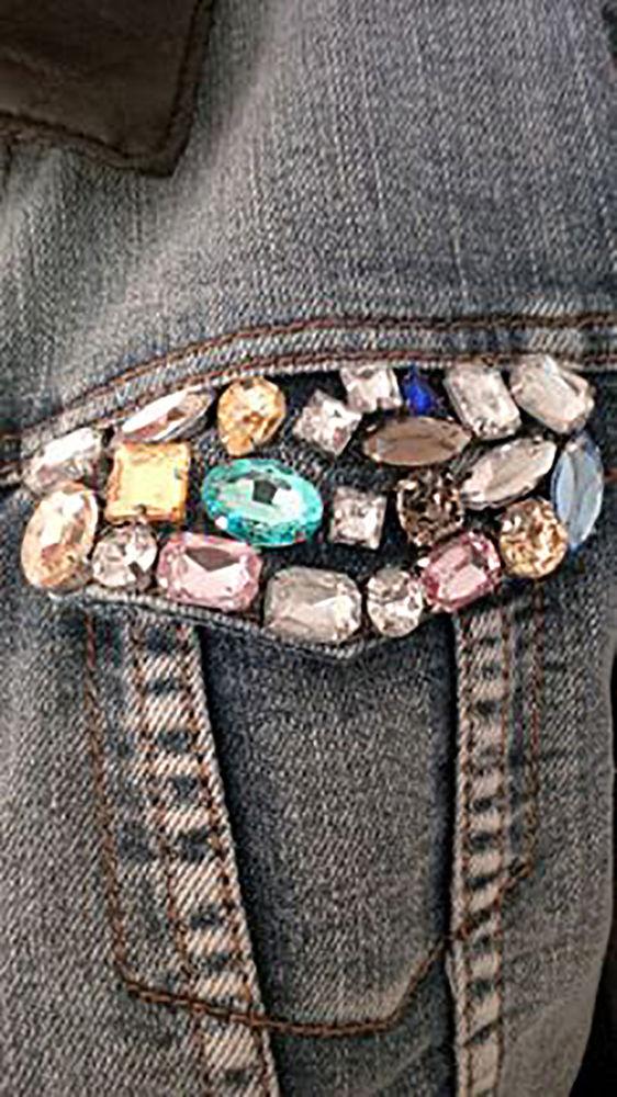Многообразный декор джинсовых курток: 50 интересных вариантов, фото № 33
