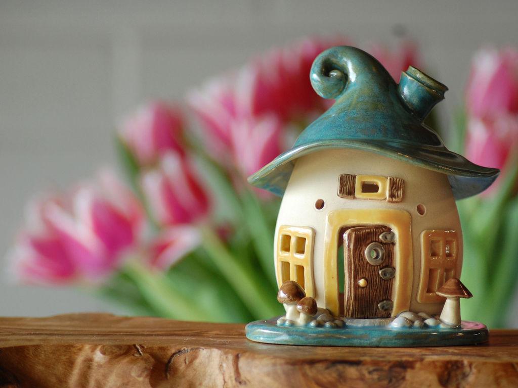 Домики для фей: волшебные керамические подсвечники Antje Rosemann, фото № 13