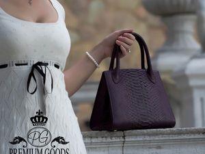 Скидки на сумки из экзотической кожи до 30%. Ярмарка Мастеров - ручная работа, handmade.