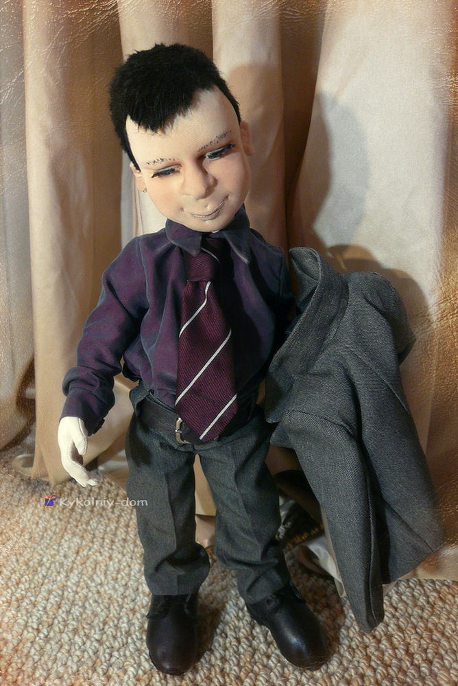 портретная кукла, человек