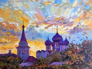 Православная Русь — новые пейзажи маслом. Ярмарка Мастеров - ручная работа, handmade.