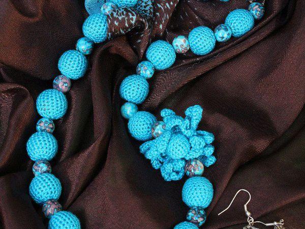 С чем носить вязаные бусы? | Ярмарка Мастеров - ручная работа, handmade
