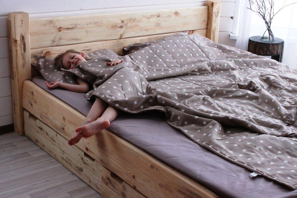 кровать, кровать с ящиками, интерьер дома, спальня лофт