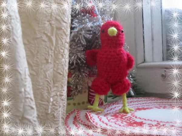 Вяжем красного цыпленка-погремушку — символ 2017 года | Ярмарка Мастеров - ручная работа, handmade