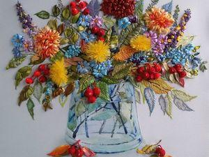 Коллекция вышитых картин на тему Осень. Ярмарка Мастеров - ручная работа, handmade.